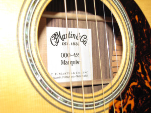 Martin 000-42 Marquis One Man's Guitar onemanz.com label