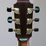 Cocobolo veneer, ebony buttons