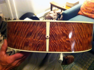 figured mango wood Randall Kramer guitar onemanz.com