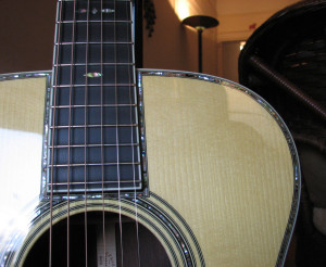 Deep Body Martin OM-42 review at One Man's Guitar onemanz.com high color abalone