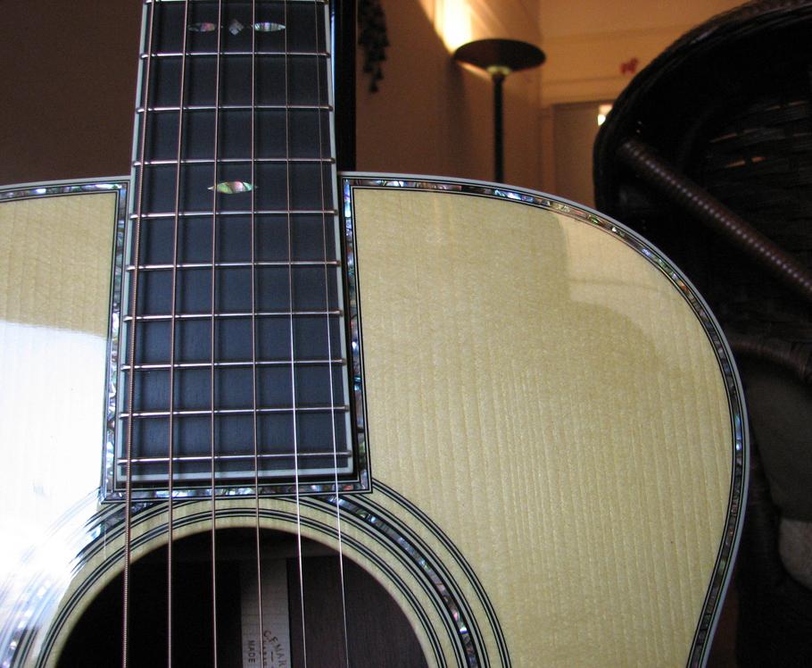 Martin OM-42 Deep Body review at One Man's Guitar onemanz.com high color abalone
