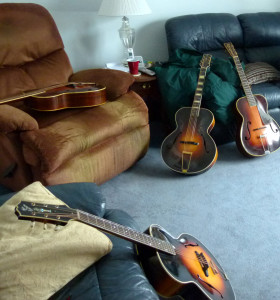 Old Gibson and Martin archtops