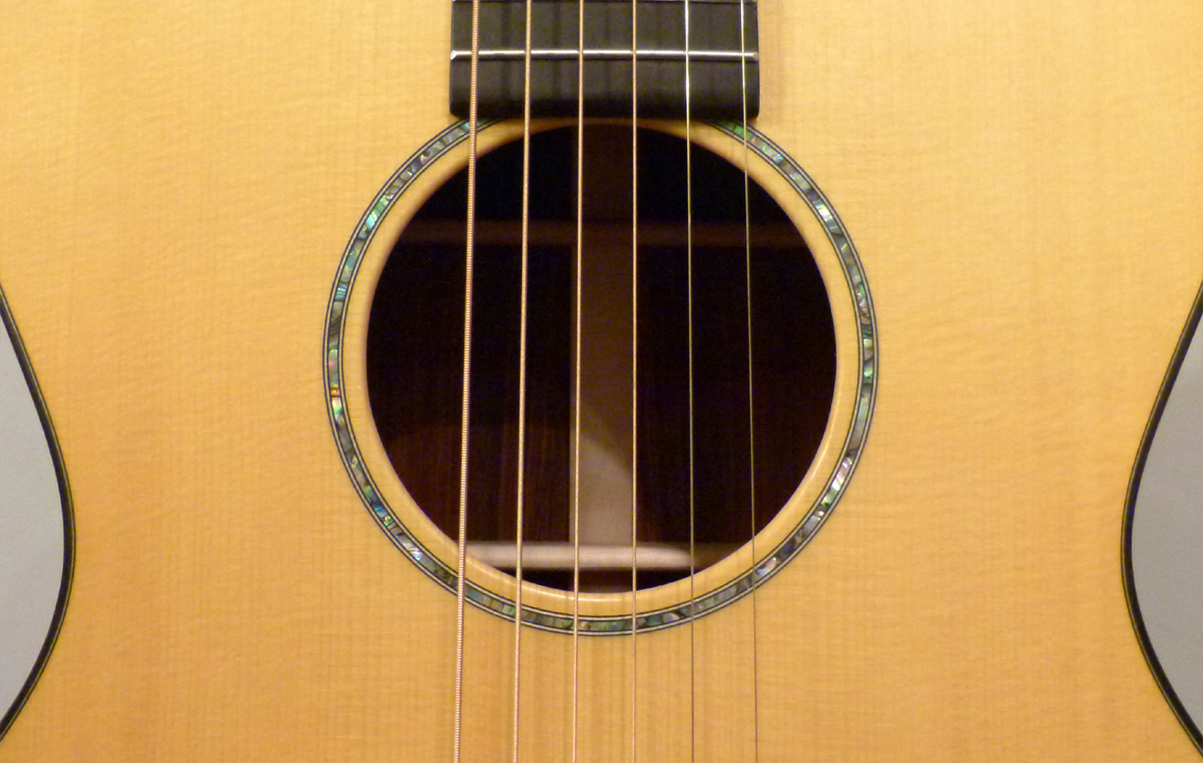 Martin Custom CEO-7 Paua rosette at Mandolin Brothers