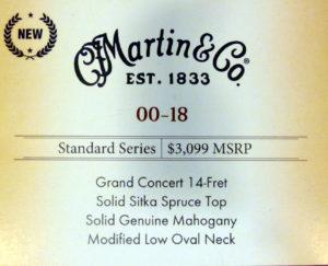 Martin 00-18 label