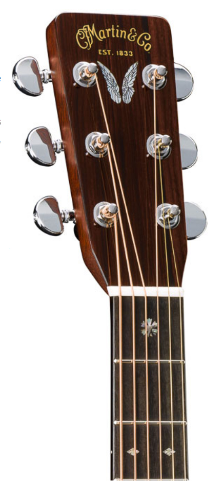 2017 Martin D 28 Prine headstock Winter NAMM