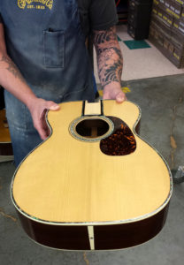 Martin 000-42 conversion pearl work