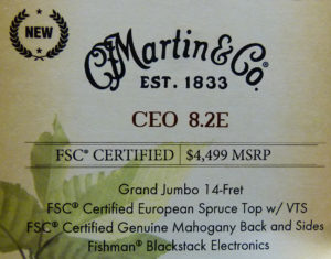 Martin CEO-8.2 NAMM label
