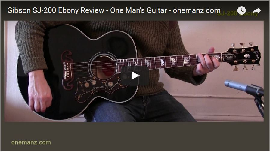 Gibson J-200 Ebony Limited Editio Video