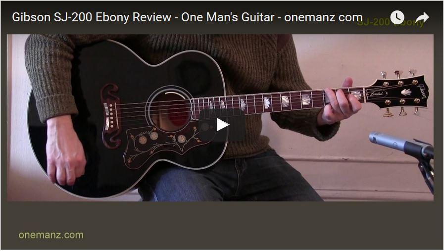 Gibson J-200 Ebony Limited Editio Video