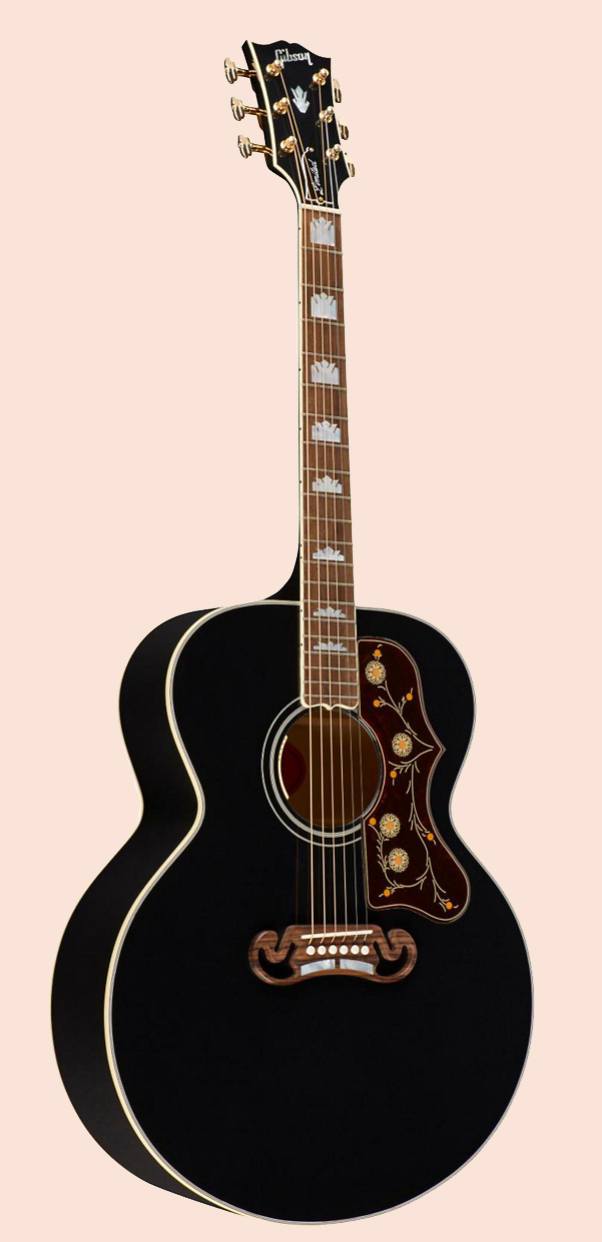sj 200 ebony one man 39 s guitar. Black Bedroom Furniture Sets. Home Design Ideas