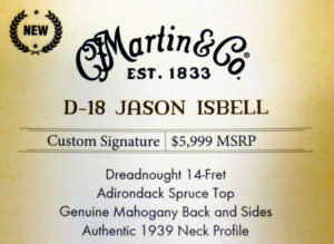 D-18 Jason Isbel NAMM label