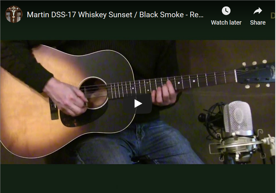Martin DSS-17 Whiskey Sunset review with video pic
