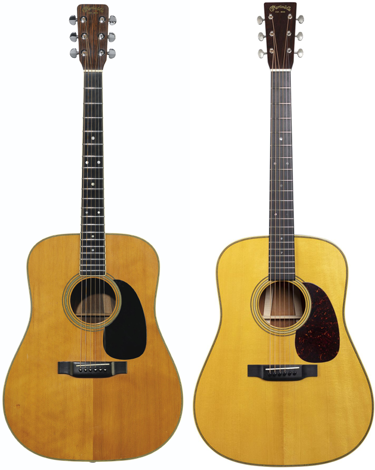 Gilmour's 1969 Martin D-35 and D-35 David Gilmour onemanz
