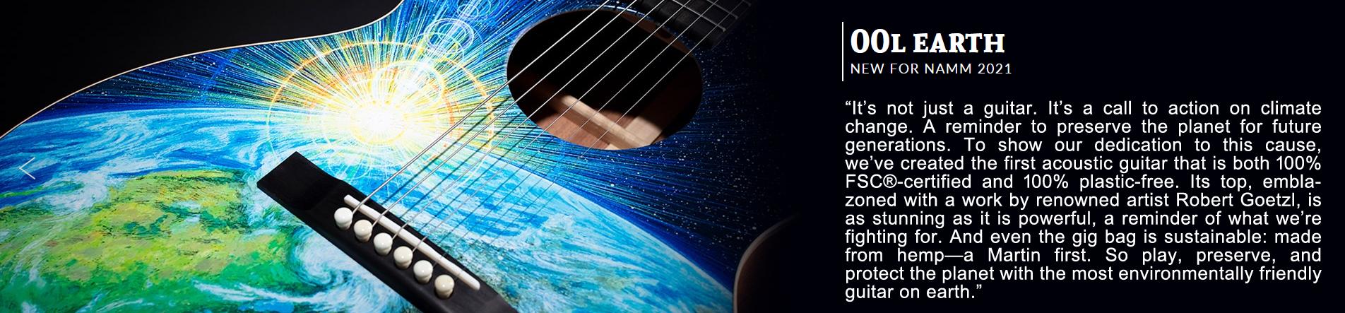 Martin 00L Earth One Man's Guitar onemanz art