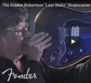 Robbie Roberston Band bronze guitar Last Waltz