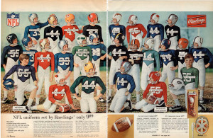 NFL Uniforms from 1970 JC Penny Mail Order Catalog