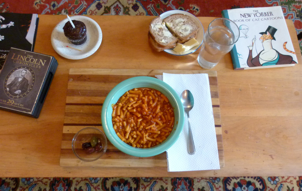 Beefaroni brithday meal onemanz.com