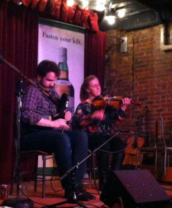 Ben Miller & Anita MacDonald Pipes and Fiddle Concert at Jalopy