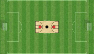 TIm Howard football pitch vs basketball court
