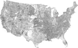 American rivers map large