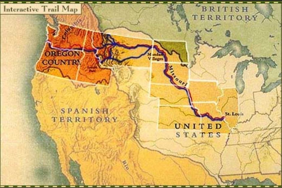 Lewis and Clark map PBS