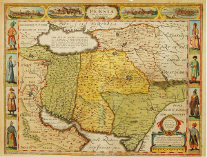 Persia 1676 antique map