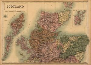 Scotland 1865 map