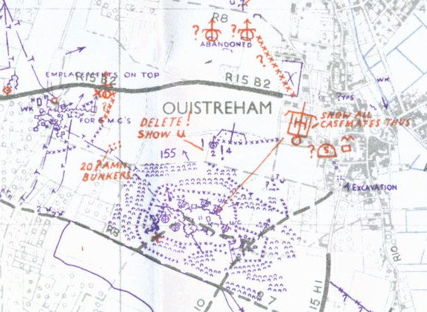 ouistreham Normandy map