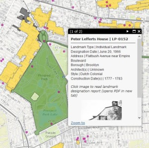 Lefferts Homestead New York City Landmarks Map