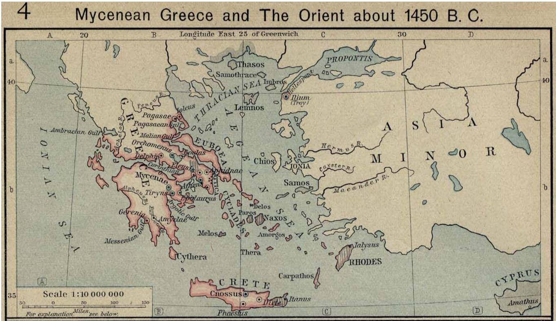 Bronze Age Crete And The Aegean Sea Monday Mapone Man S World
