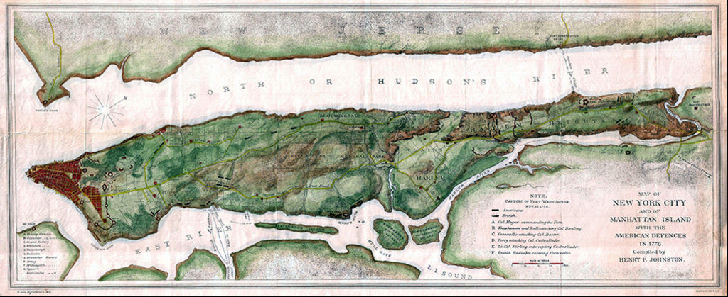 Manhattan 1776 map