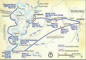 Vicksburg map 4th of July