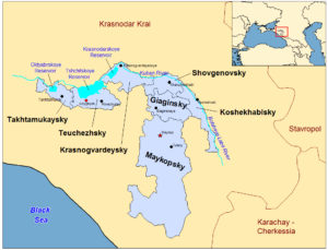 Adyge Republic Map