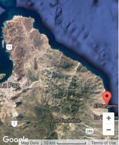 Baja Sur Sierra Cacachilas satellite map