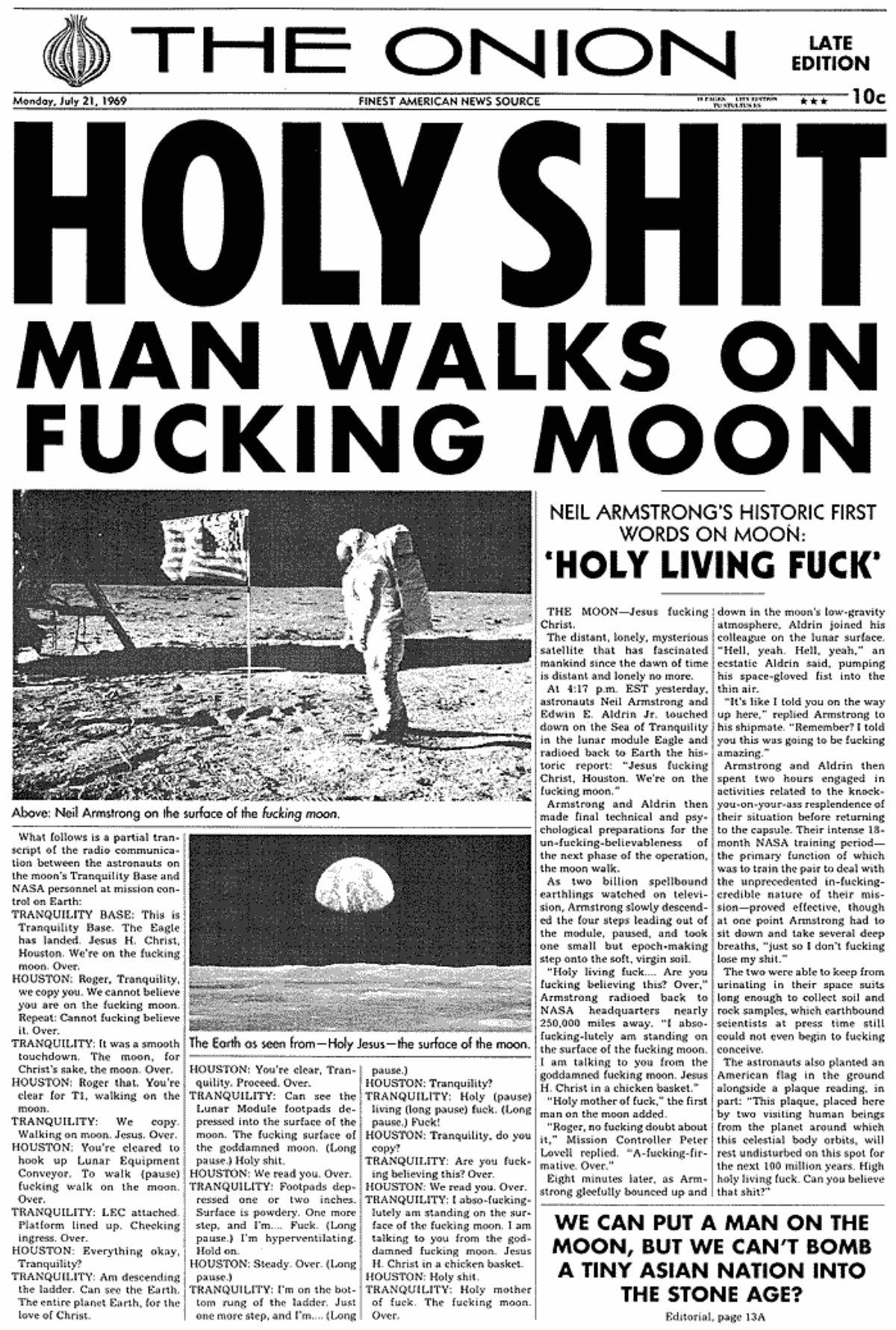 Onion Moon Landing