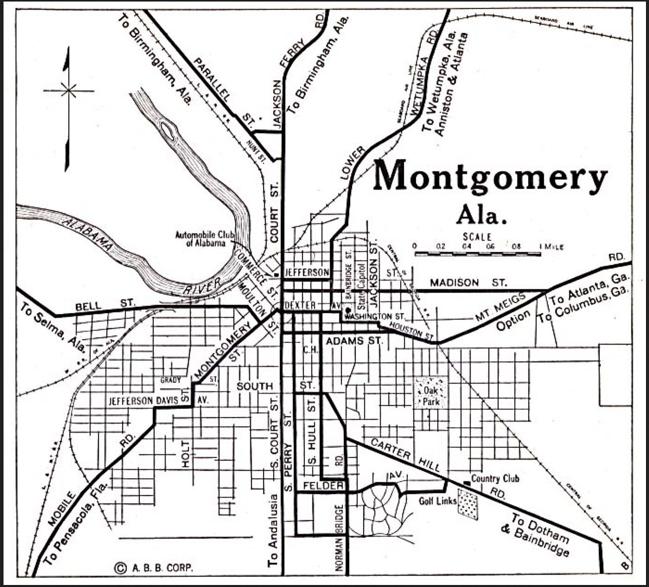 Montgomery, Alabama - Monday Map - One Man's World on richmond va map, st louis mo map, nashville tn map, marion co alabama on map, providence ri map, trenton nj map, san antonio tx map, newport ri map, phoenix az map, erie pa map, omaha ne map, oklahoma city ok map, milwaukee wi map, augusta ga map, montgomery state map, montgomery tx map, montgomery alabama, roanoke va map, san diego ca map, rochester ny map,