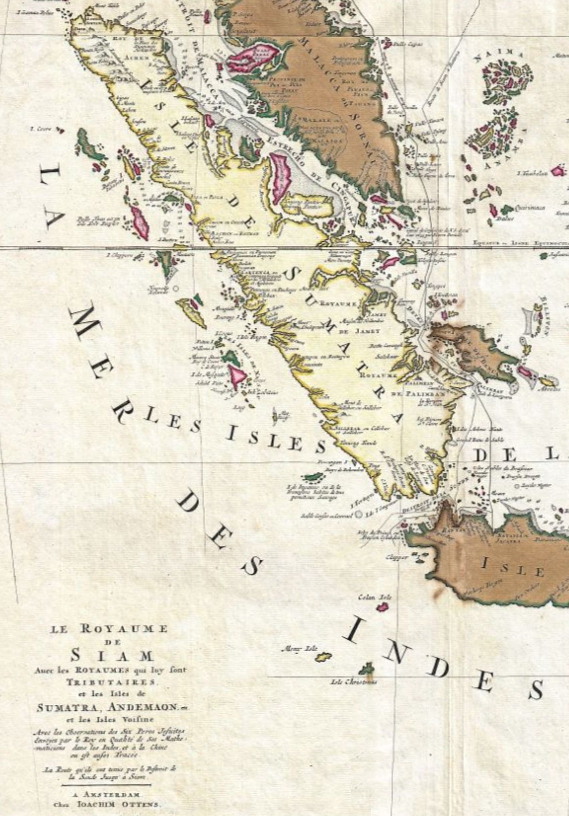 Picture of: Sumatra 1710 Map Section One Man S World