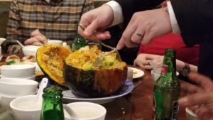 Birthday feast pumpkin casserole Congee Village