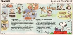 Peanuts Final Strip