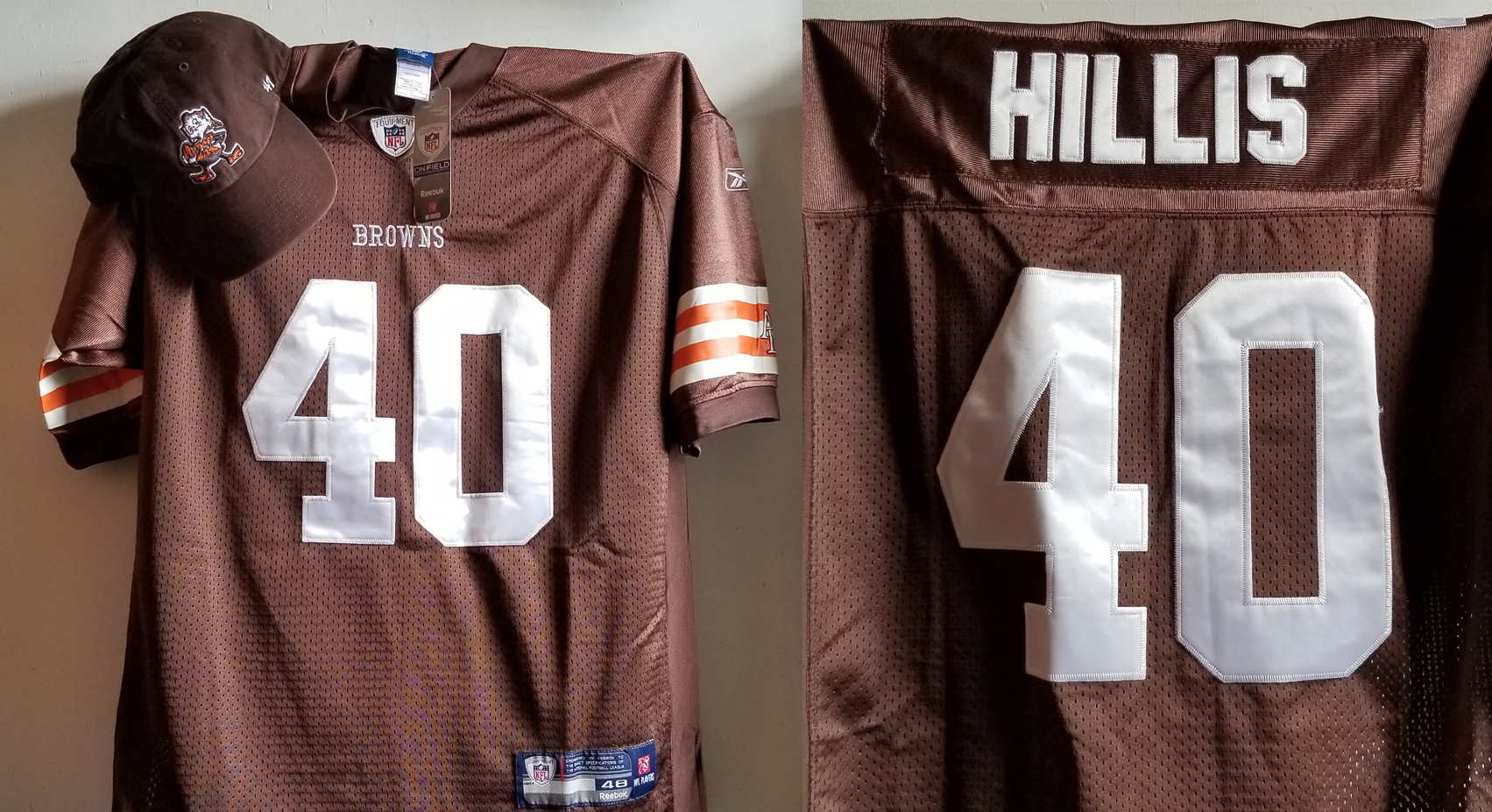 Petyton Hillis Browns jersey and brownies cap