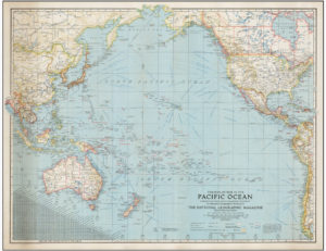 The Pacific 1942 National Geographic Map