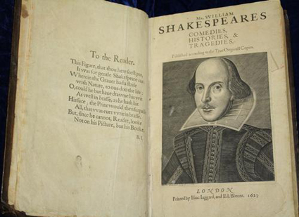 milton shakespeare first folio