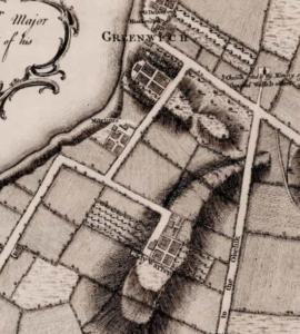 New York Map1776 George Washington onemanz Greenwhich