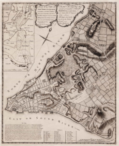 New York Map1776 George Washington onemanz s