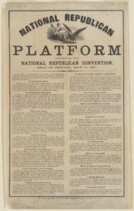 Republican platfrom 1860 Lincoln onemanz