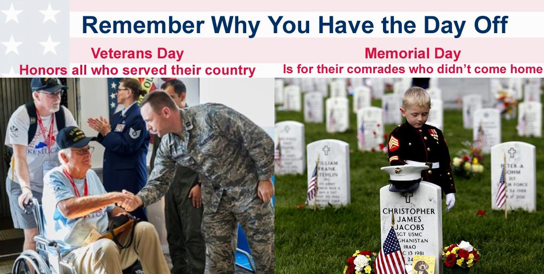 Memorial Day onemanz.com