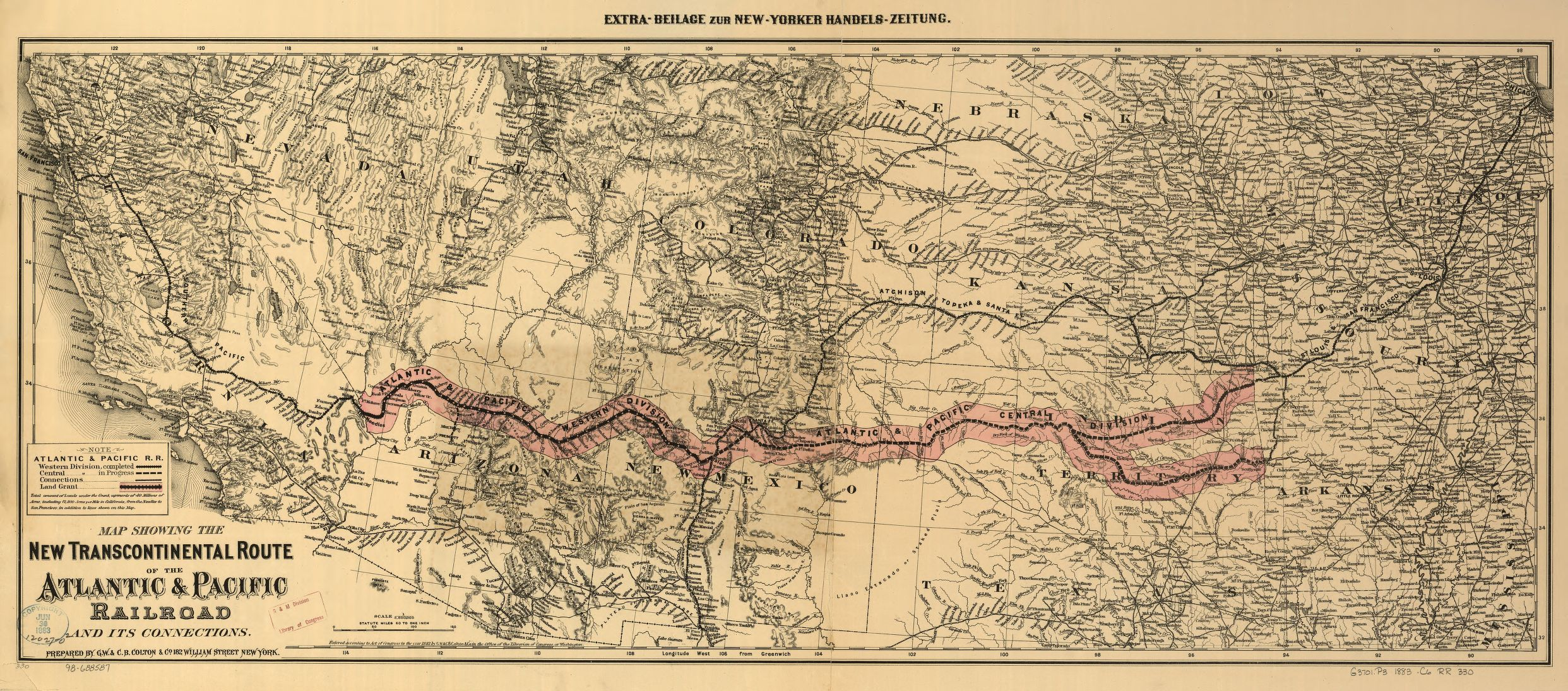 Transcontinental railroad actual route 1883 onemanz